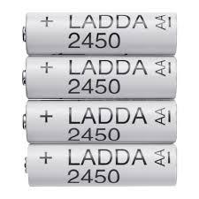4 X LADDA Rechargeable AA batteries HR6 AA 1.2V (2450mAh) £5.50 (Free C&C) @ IKEA