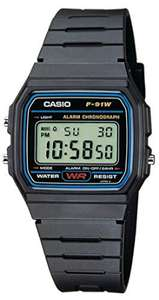Casio Collection Unisex Adults Watch F-91W £8.09 + £4.49 delivery Non Prime @ Amazon