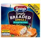 Young's Simply Breaded Omega 3 Large Fish Fillets x4 480g 45p @ Sainsbury's