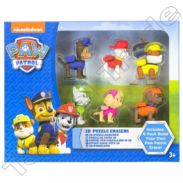 Paw Patrol 3D Puzzle Eraser (6 pack) now £1 @ B&M instore