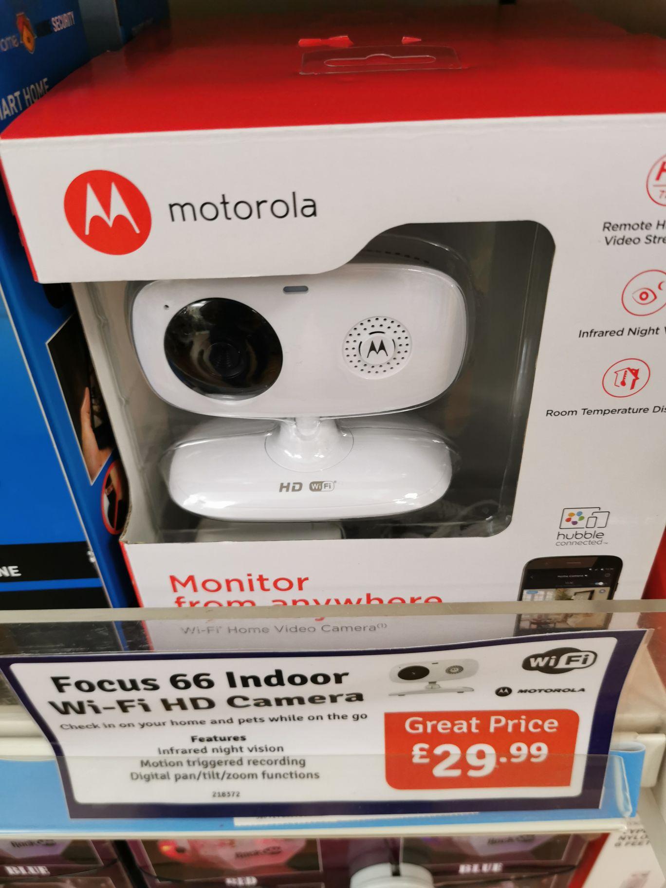 Motorola focus 66 indoor WiFi camera £29.99 instore @ The Range