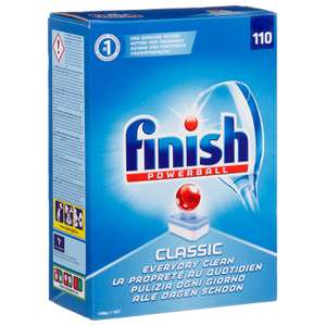 Finish Powerball Classic Dishwasher Tablets 2 boxes of 110 tablets for £15.00 at Boyes