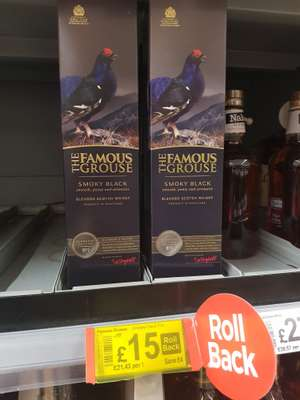 Famous Grouse Smoky Black 70cl reduced to £15