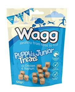 Wagg Puppy Junior Treats with Chicken and Yoghurt, 7 x 120 g £3.50 + £3.99 postage @ Amazon Pantry