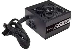 Corsair CX650M 650W Semi-Modular 80+ Bronze PSU, £49.49 at Amazon