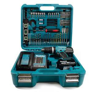Makita DHP453SFTK 18V LXT Combi Drill with 1x 3.0Ah Battery and 101 Accessories in Case £115.50 at Homebase