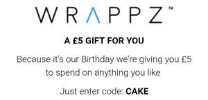 £5 off @ Wrappz with code CAKE