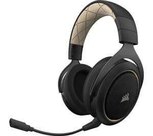 CORSAIR HS70 SE Wireless 7.1 Gaming Headset - Black & Gold - £69.99 at Currys