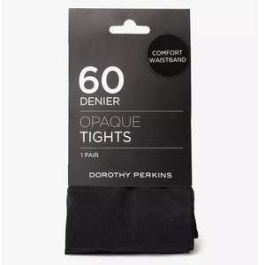 Black 1 Pack Comfort Waistband Tights 60Denier £1.80 was £6 free c&c @ Dorothy Perkins