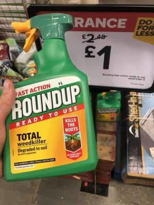 Round Up Total Weed Killer £1 Instore @ B&Q Lordshill