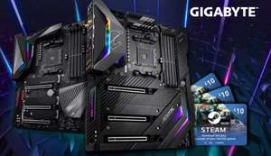 Gigabyte X570 Aorus Motherboards - leave a review for £30 steam voucher - £214.99 at Scan