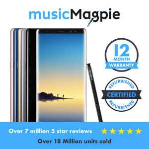 Samsung Galaxy Note8 64GB 128GB 256GB Unlocked SIM Free Various Colours - £284.99 at musicmagpie eBay