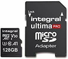 Integral 128GB 4K Ultra-HD Video Premium High Speed Microsdxc 100MB/S V30 UHS-I U3 A1 C10 for £13. 99 Prime (£4.49 NP) @ Amazon
