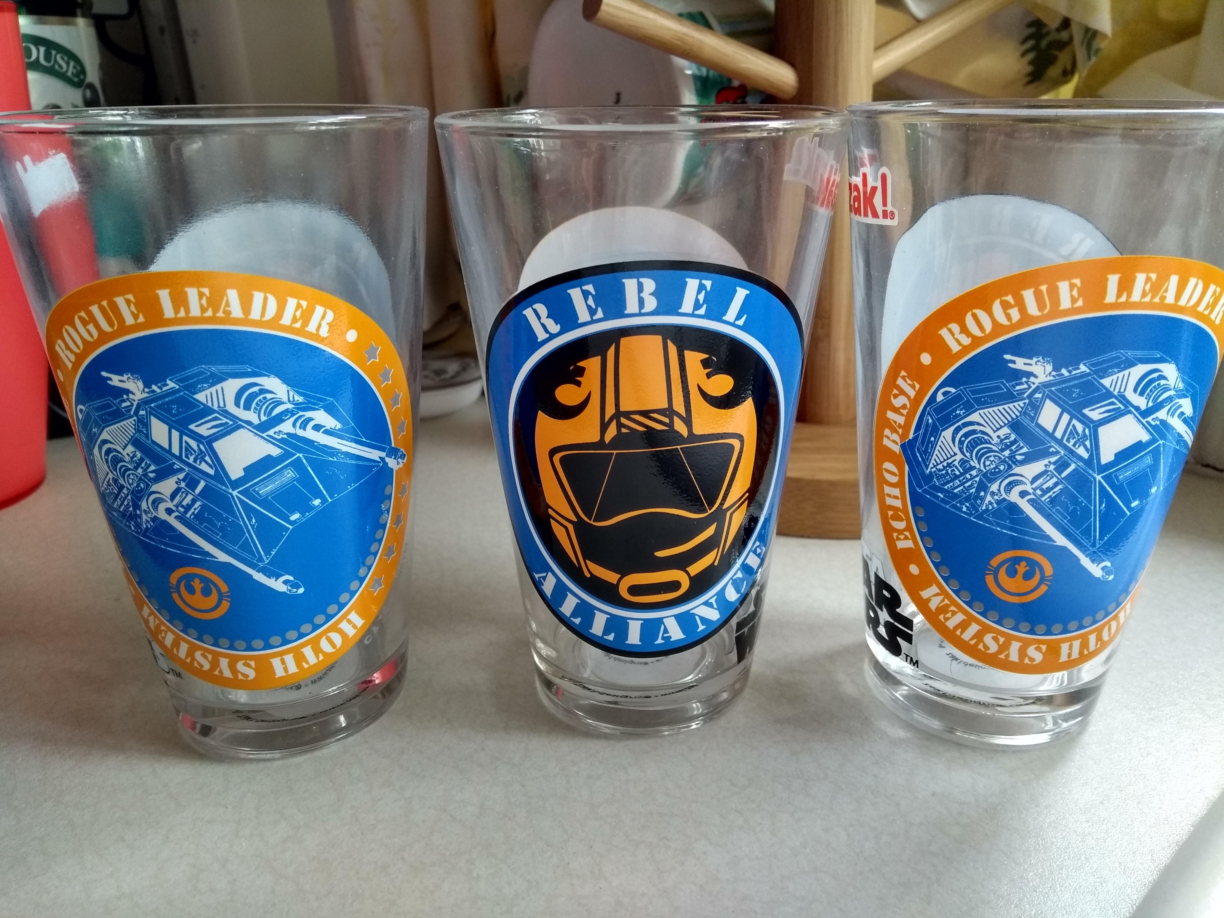 3 Star Wars Glasses for £1 @ Home Bargains