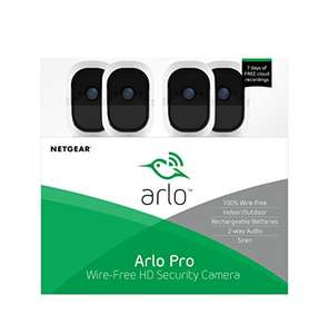Arlo Pro - Wireless Home Security Camera System with Siren, Rechargeable, Night Vision, Indoor/Outdoor - £448 @ Amazon Spain