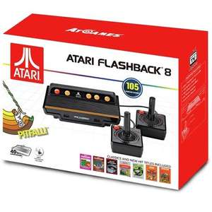 Retro Atari Flashback 8 Standard Games Console with 105 Games 2 Controllers - £18.99 @ Argos (Free C&C)