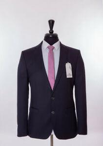 Men's Ben Sherman Slim Fit Suit Navy Blue Wool Camden 38R W32 L32 - £169.99 @ eBay / tom-percy-suits