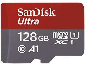 SanDisk Ultra 128GB microSDXC Memory Card + SD Adapter with A1 App Performance Up to 100 MB/s, Class 10 @ Amazon - £16.99 (+£4.49 non-Prime)