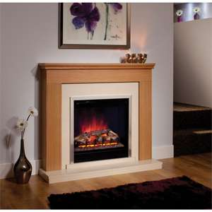 Durham Electric Fire Suite - Natural Oak at Homebase for £134.70