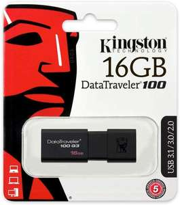 Kingston Data Traveller 3.0 usb flash drive 16gb £3.04 (Prime) / £7.53 (non Prime) at Amazon