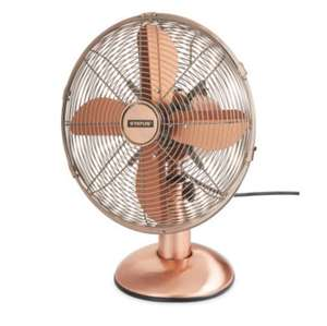 Retro Copper Desk Fan £22.99 @ Aldi + free delivery + 3 year guarantee