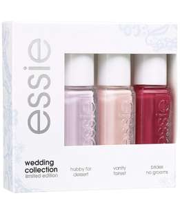 Essie Wedding Collection Gift Set £2.75 with 3 x 5ml Nail Polishes £2.75 + Free Delivery ebay / traderstewart