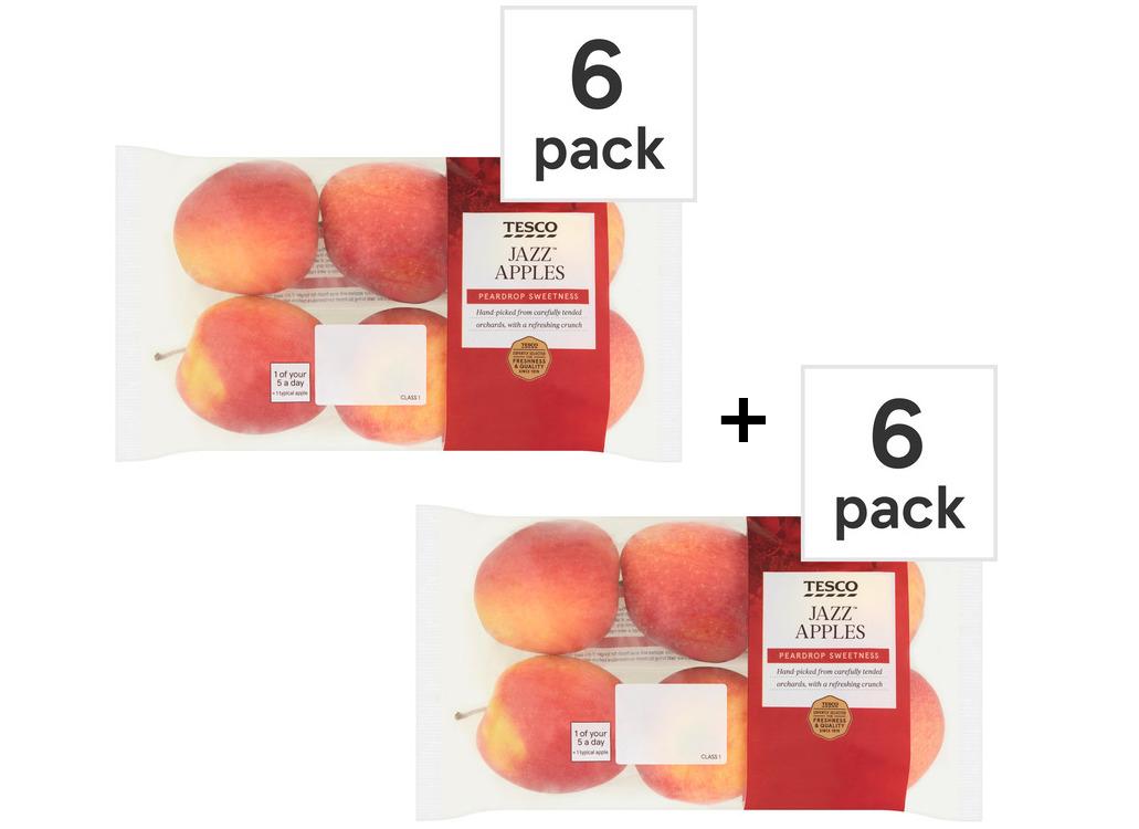 Jazz Apples 2 Packs of 6 i.e. 12 apples for £2.50 @ Tesco (from 23/07)