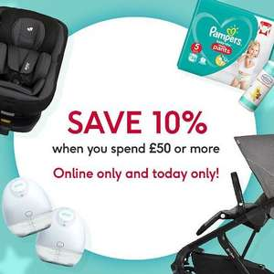 Boots flash sale 10% off £50 spend online - Parenting Club offer