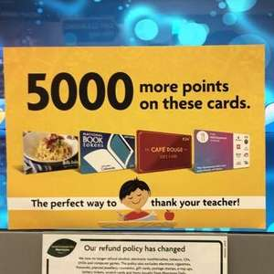 Earn 5000 More Points when purchasing selected Gift Cards @ Morrisons