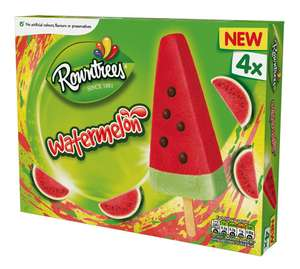 Refreshing Rowntrees Watermelon Ice Lollies 4x73ml just £1.50 @ in-store and online Sainsbury's