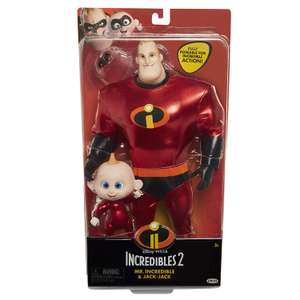 Disney Incredibles 2: Mr Incredible and Jack-Jack Action Figures now £7.99 (Prime) + £4.49 (non Prime) at Amazon