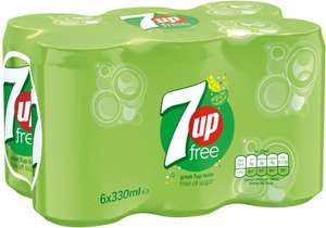 7-Up Free Light Lemon & Lime 6 X 330ml Pack £1.59 @ Tesco