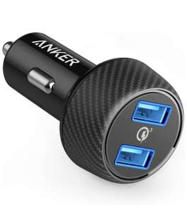 Anker PowerDrive Speed 2, Compact 39 W Car Charger - £11.99 + £4.99 non prime Sold by AnkerDirect and Fulfilled by Amazon