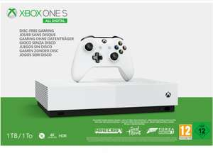 Xbox One S Console - All Digital on Xbox One (+ 3 Digital Game Codes) for £159.99 Delivered @ Simply Games