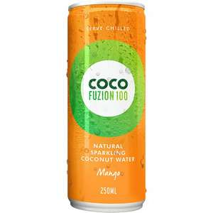 Coco Fuzion Sparkling Coconut Water Mango Or Lime 15p @ Poundstretcher
