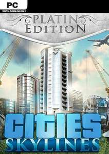 [Steam PC] Cities: Skylines Platinum Edition (Includes Base Game, DLCs : After Dark/ Snowfall & Mass Transit) £9.99 @ cdkeys