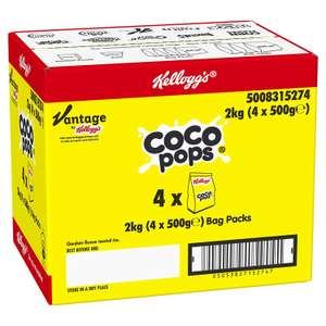 Coco Pops Kellogg's Bag Pack 2 kg now £5.96 (Prime) + £4.49 (non Prime) at Amazon
