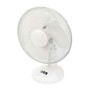 "12"" Desk Fan 220-240V £9.99 / 16"" Pedestal Fan 220-240V £14.99 @ Screwfix ( Free C&C)"