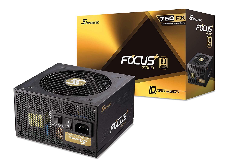 Seasonic Focus Plus+ 750 Watt Gold Modular PSU/Power Supply (10 years warranty) £85.47 at Amazon