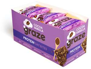 Graze Cocoa Vanilla & Oats Vegan Protein Bites 30 grams (Pack of 15) Amazon add on or subscribe and save
