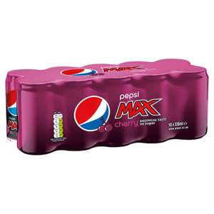 20 Pepsi Max 330ml cans (Cherry and original) £6 at Iceland