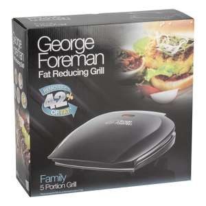 George Foreman Fat Reducing Grill £28 instore @ Sainsbury's