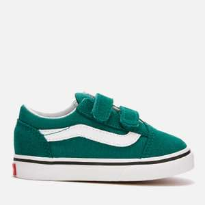 Vans Toddlers' Old Skool Velcro Trainers - Quetzal Green/True White £24 + £2:99 standard delivery @TheHut