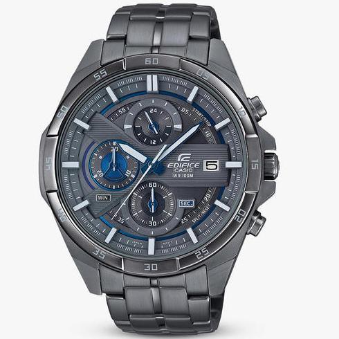 Casio Men's Edifice Chronograph Date Bracelet Strap Watch in Gunmetal £90 @ John Lewis & Partners