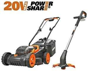 WORX Cordless Lawnmower and Trimmer - 20V - Twin Pack - £150 at Argos eBay