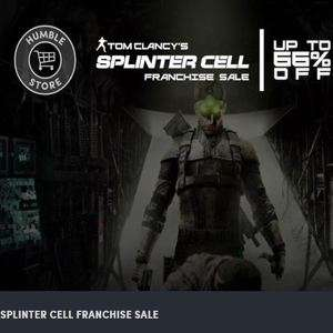 Splinter Cell Franchise Sale at Humble Bundle - Splinter Cell £1.45 Chaos Theory £2.92 Double Agent £2.92 + More