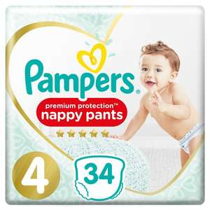 Pampers Premium Protection Pants Size 4 - 34 Nappies , Now £3.85 ( see post for more ) @ Tesco
