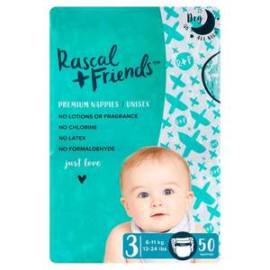 Rascal & Friends Essential Size 3 Nappies 50 Pack half price £4 at Tesco (in-store & online)