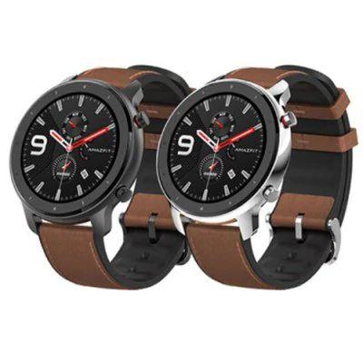 AMAZFIT GTR 47mm Smart Watch International Version (Xiaomi Ecosystem Product ) - Brown Aluminum Alloy Case £122.40 @ Gearbest
