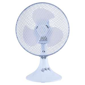 Tesco Desk 9'' Fan White £9.50 @ Tesco